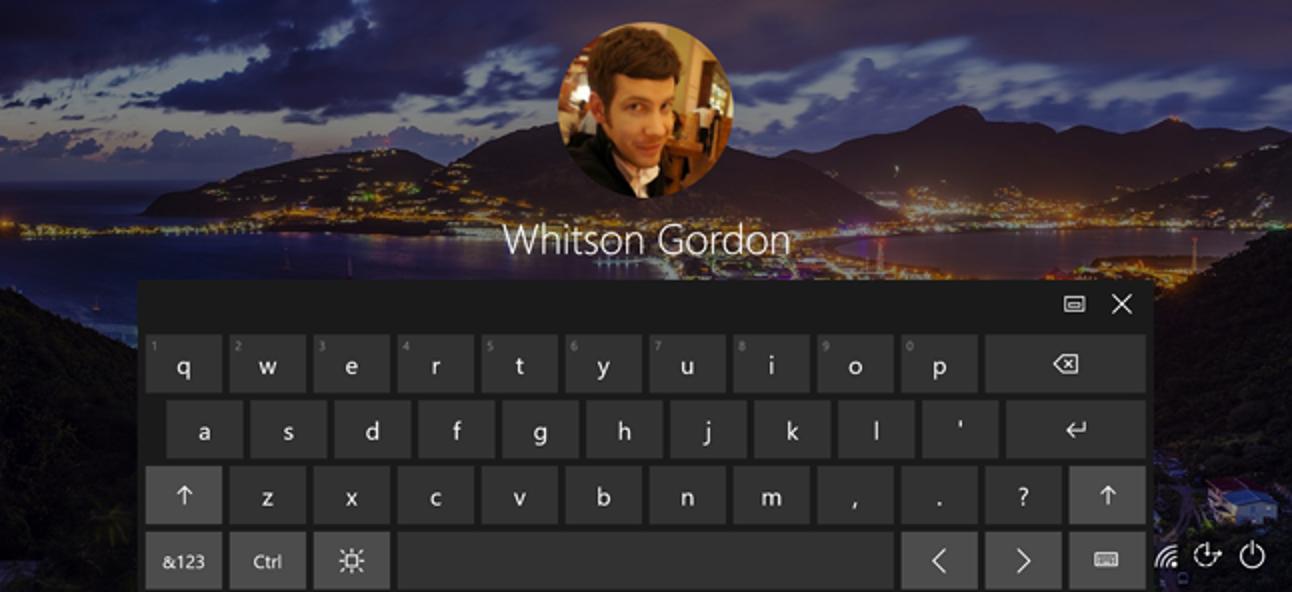 So verhindern Sie, dass die Touch-Tastatur von Windows 10 bei der Anmeldung angezeigt wird