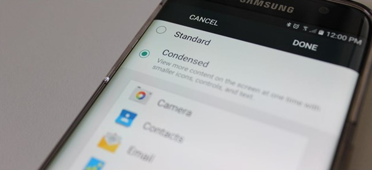 So sehen Sie weitere Informationen auf dem Bildschirm Ihres Galaxy S6, S7 oder Note 5 mit Anzeigeskalierung