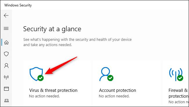 Öffnen Sie die Einstellungen für den Viren- und Bedrohungsschutz in der Windows-Sicherheit.