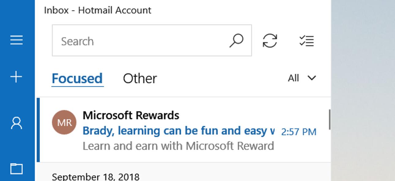 So aktivieren oder deaktivieren Sie den fokussierten Posteingang in Windows 10 Mail