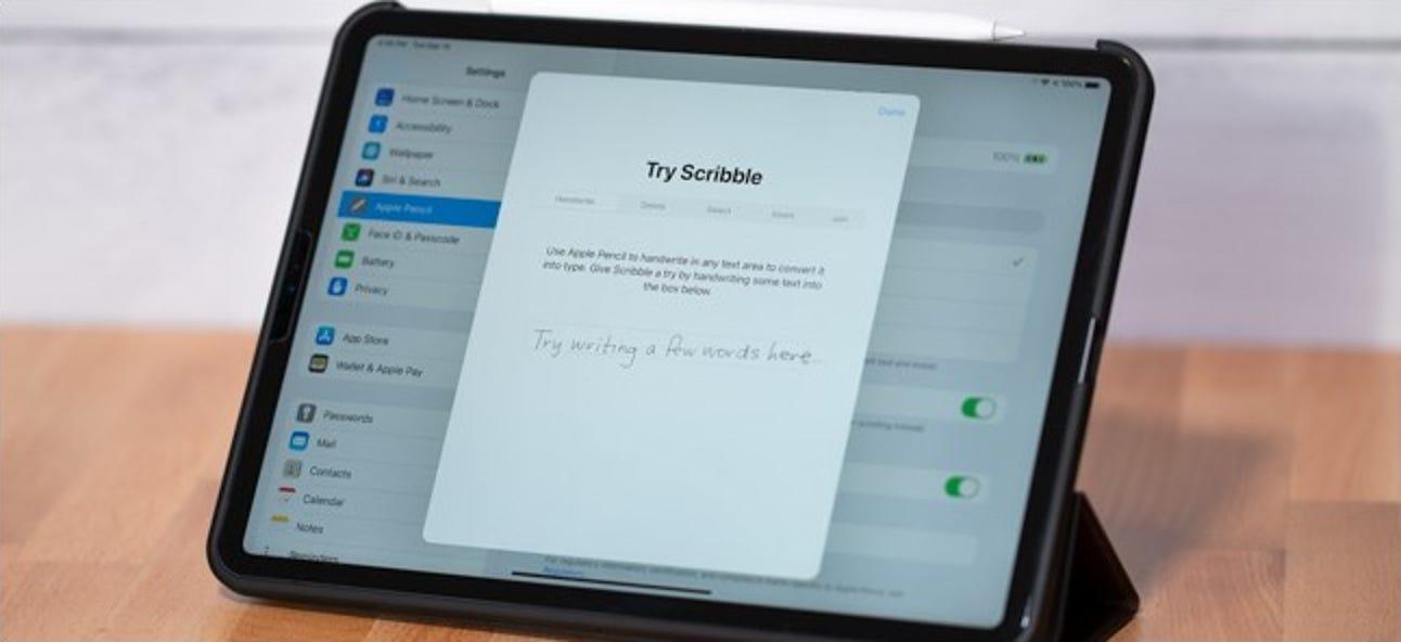 So deaktivieren Sie Scribble für Apple Pencil auf dem iPad