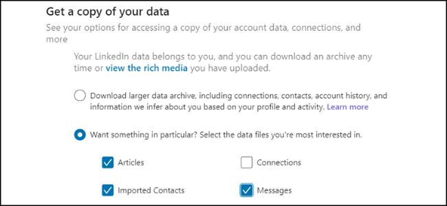 LinkedIn-Datenkopie