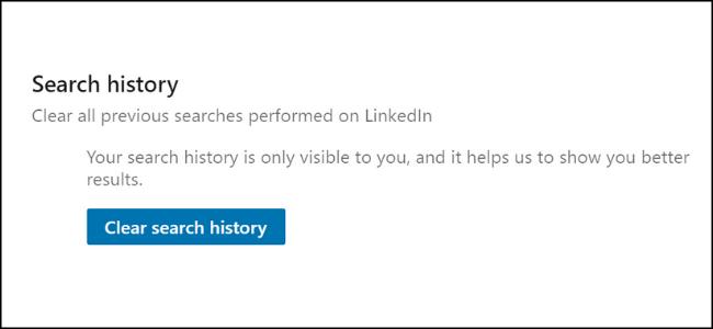 Löschen der LinkedIn-Suche
