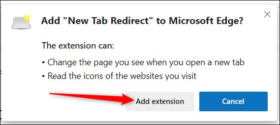 """Lesen Sie die Berechtigungen und klicken Sie dann auf """"Erweiterung hinzufügen"""" um die Erweiterung zu installieren."""