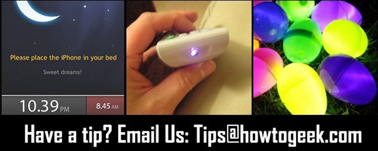 iPhone-Schlafmonitore, IR-Fernbedienungen mit einer Kamera testen und leuchtende Ostereier Redux