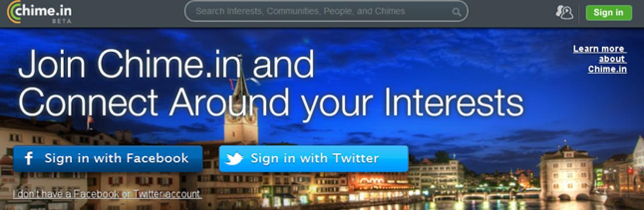 Was ist Chime.in und wie unterscheidet es sich von Facebook/Twitter/Google+?
