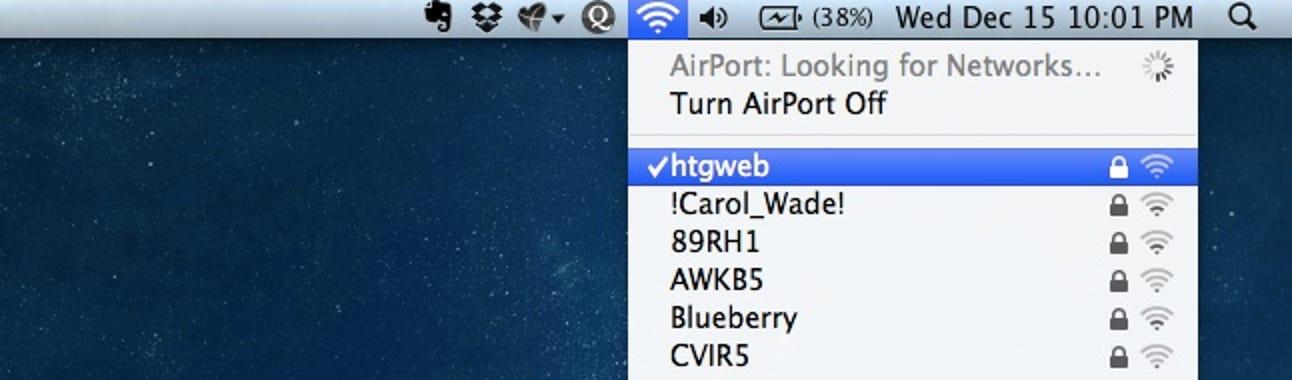 So sehen Sie Ihre aktuelle WLAN-Verbindungsgeschwindigkeit in Mac OS X