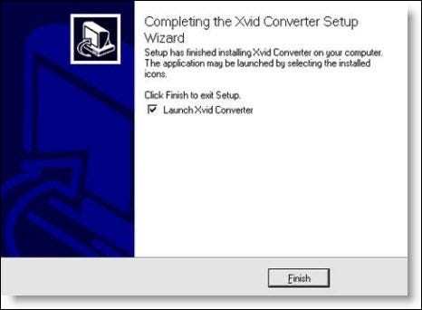 Start des xvid-Konverter-Setup-Assistenten