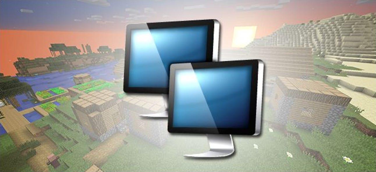 So teilen Sie Ihr Minecraft-Spiel über das Internet