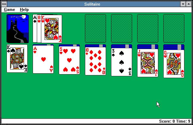 Microsoft Windows 3.0 Solitär
