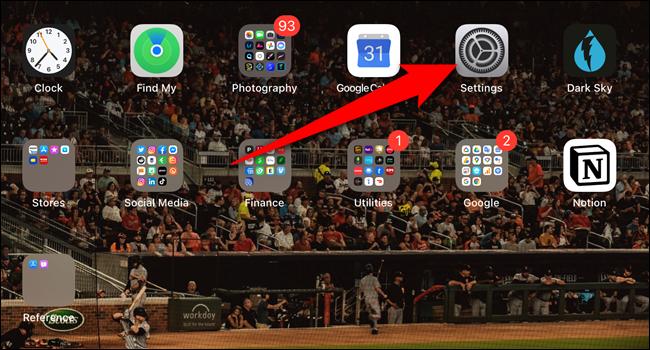 """Öffne das """"Einstellungen"""" App"""
