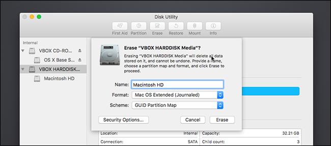 Mac-Festplatte löschen