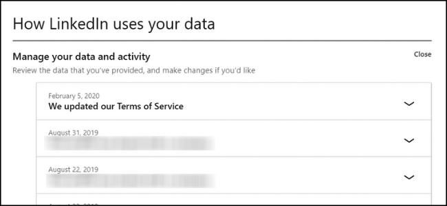 LinkedIn-Datenverlauf